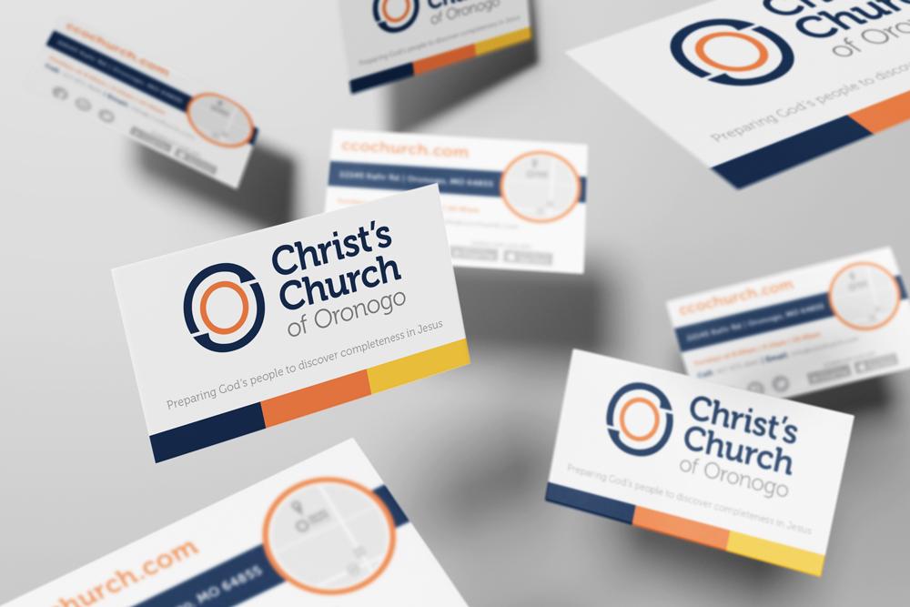 Zack Minor | Portfolio » Christ\'s Church Business Cards